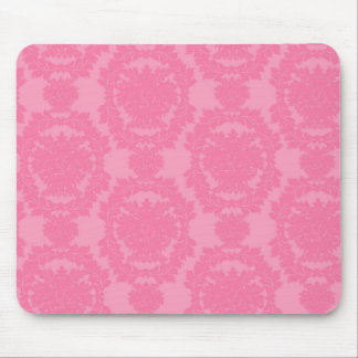 pink formal damask pattern mouse pads