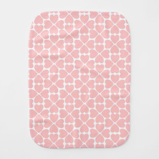 Pink Four Leaf Clover Hearts Burp Cloth