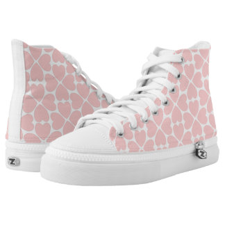 Pink Four Leaf Clover Hearts High Tops