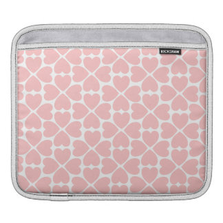 Pink Four Leaf Clover Hearts iPad Sleeves