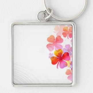 Pink Four Leaf Clovers Key Chain