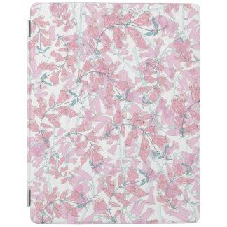pink foxglove iPad cover