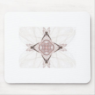 Pink Fractal Art Diamond Mouse Pad
