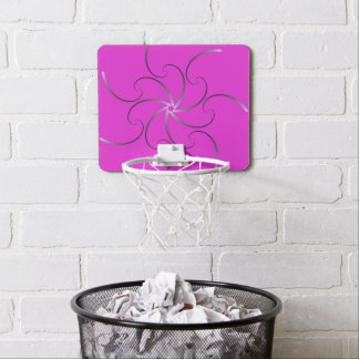 Pink Fractal Art Mini Basketball Hoop