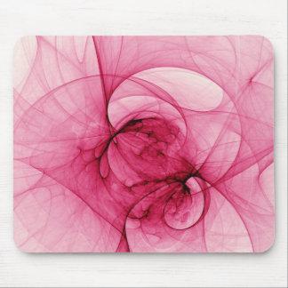 Pink Fractal Art Mouse Pads