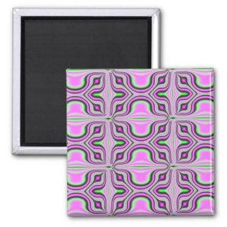 pink fractal magnet