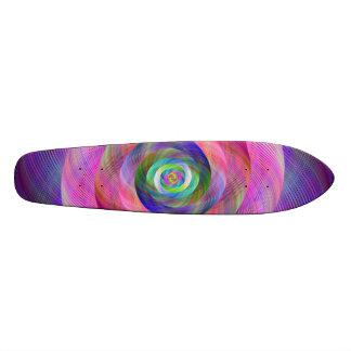 Pink fractal 18.1 cm old school skateboard deck