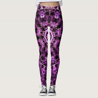 Pink Fractals Leggings