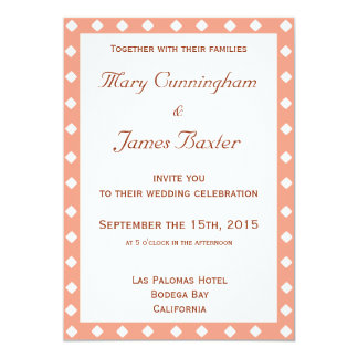 "PINK FRAME WITH DIAMONDS (vertical) 5"" X 7"" Invitation Card"