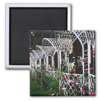 Pink Franciscan Gardens flowers Square Magnet