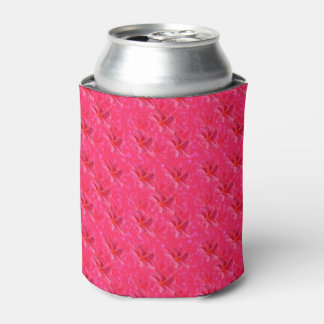 Pink Frangipanis On Pink, Can Cooler