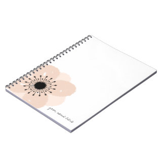 Pink French Anemone Notebook
