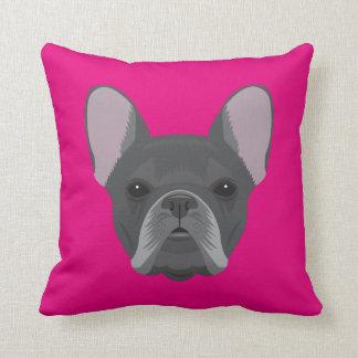 Pink French Bulldog Cushion