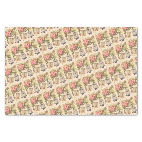 Pink French Theme Vintage Paris Tissue Paper