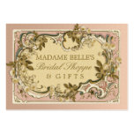 Pink French Vintage Frame | Roses Bridal Boutique Pack Of Chubby Business Cards