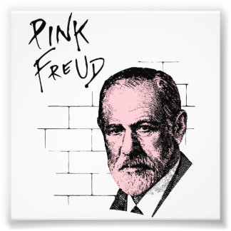 Pink Freud Sigmund Freud Photo Print