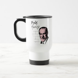 Pink Freud Sigmund Freud Travel Mug