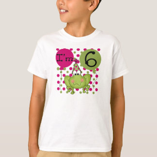 Pink Frog 6th Birthday T-Shirt