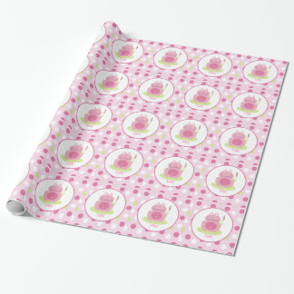 Pink Frog Pink Dot Customizable Wrapping Paper