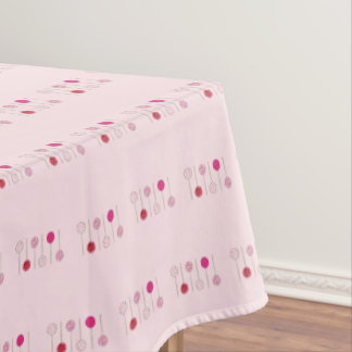 Pink Frosted Cake Pop Dessert Bakery Food Print Tablecloth