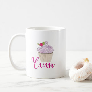 Pink Frosted Cupcake Yum! Coffee Mug