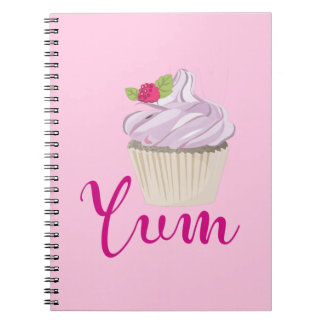 Pink Frosted Cupcake Yum! Notebook