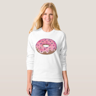 Pink Frosted Donut Doughnut w Sprinkles Sweatshirt
