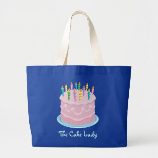 Pink Frosting Bakery-style Birthday Cake Jumbo Tote Bag