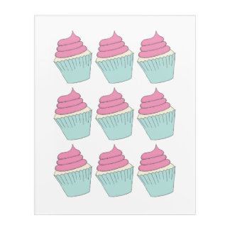 Pink Frosting Cupcake Print Acrylic Print
