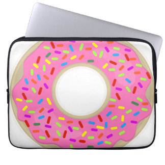Pink Frosting Cute Donut Laptop Sleeve