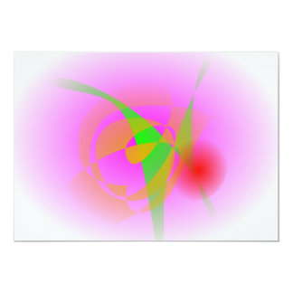 Pink Fruit 13 Cm X 18 Cm Invitation Card