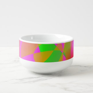 Pink Fruit Soup Bowl With Handle