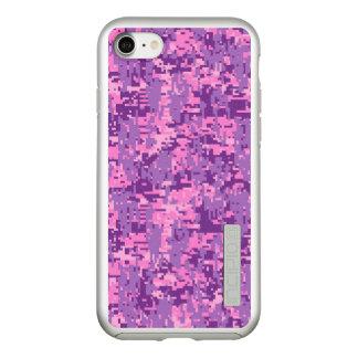 Pink Fuchsia Digital Camouflage Decor on a Incipio DualPro Shine iPhone 8/7 Case
