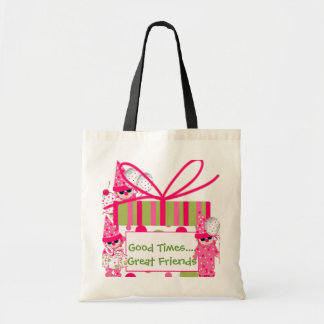 PINK Fun Clown Tote Bag Favors
