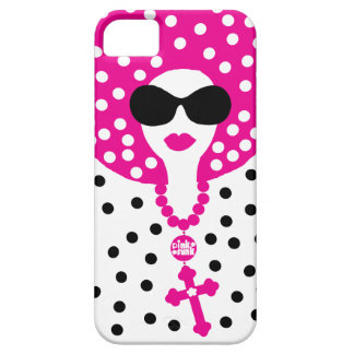 Pink Funk Afro Chick Polka Dot IPhone5 Case iPhone 5 Cover