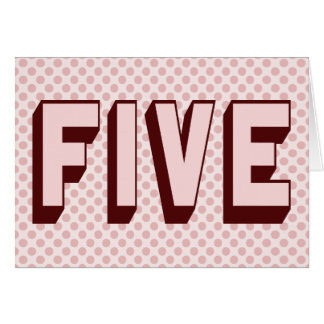Pink Funky Five Birthday Card
