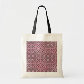 Pink Funky Trendy Retro Abstract Pattern Tote Bag