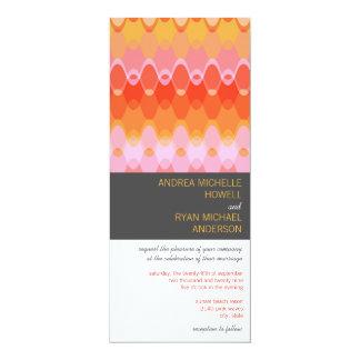 Pink Funky Waves * 03 Modern Wedding Invitation
