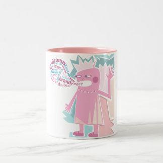 Pink Funny Blabber Character Mug
