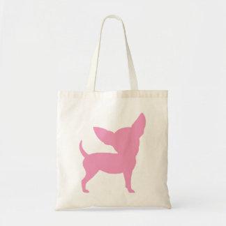 Pink Funny Chihuahua Tote Bag