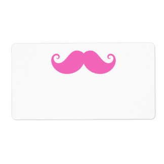Pink funny handlebar mustache cute trendy