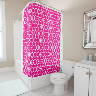 Pink Fuschia Fusion 4Francesca Shower Curtain