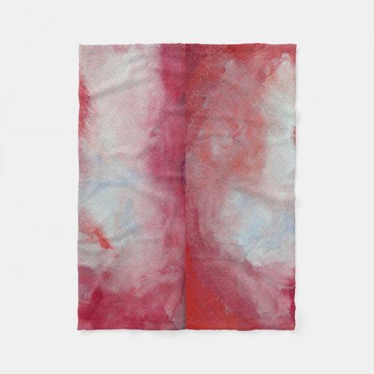 Pink Fusion Watercolor Art Fleece Blanket