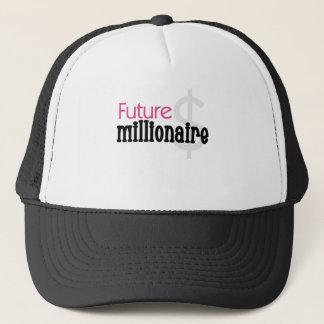 PINK FUTURE MILLIONAIRE TRUCKER HAT