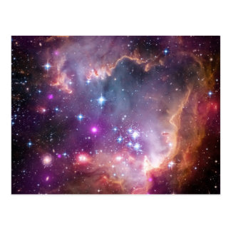 Pink Galaxy Nebula Universe Supernova Stars Night Postcard