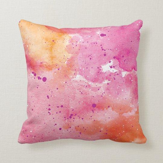 Pink Galaxy Watercolour Pillow