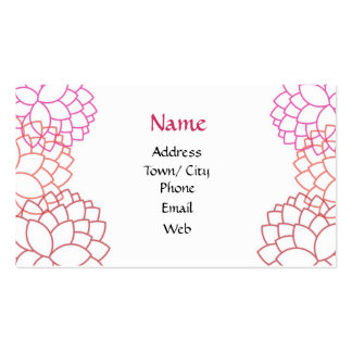Pink garden business card templates