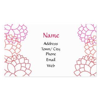 Pink garden business card templates