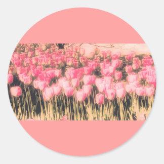 Pink Garden, Tulips, template, pretty gift Sticker