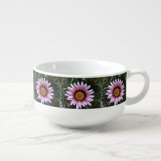 Pink Gazania Soup Mug